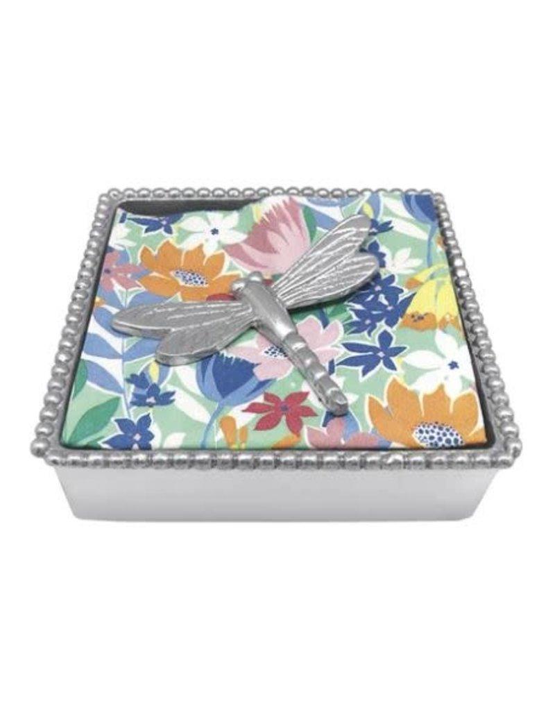 2635-C  Dragonfly Beaded Napkin Box