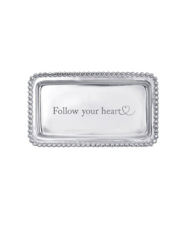3905FH Follow Your Heart Beaded Statement Tray