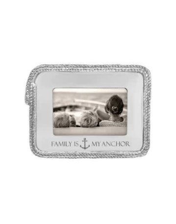 2297FA FAMILY IS MY ANCHOR Rope 4x6 Statement Frame NEW