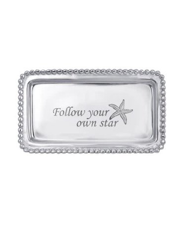 3905FS FOLLOW YOUR OWN STAR Beaded Statement Tray NEW