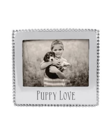 3911PL PUPPY LOVE Beaded Statement 5x7 Frame NEW