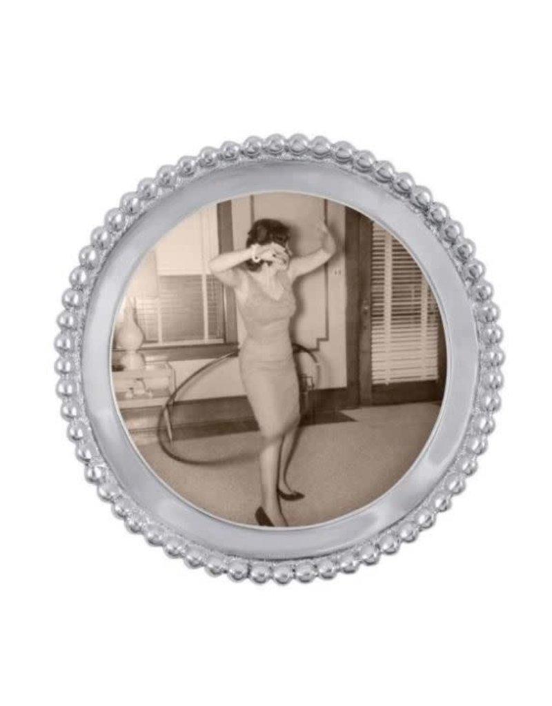 3704 Beaded Round Frame