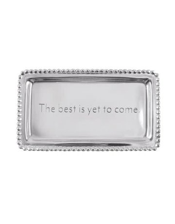3905BY The Best Is Yet To Come Beaded Statement Tray