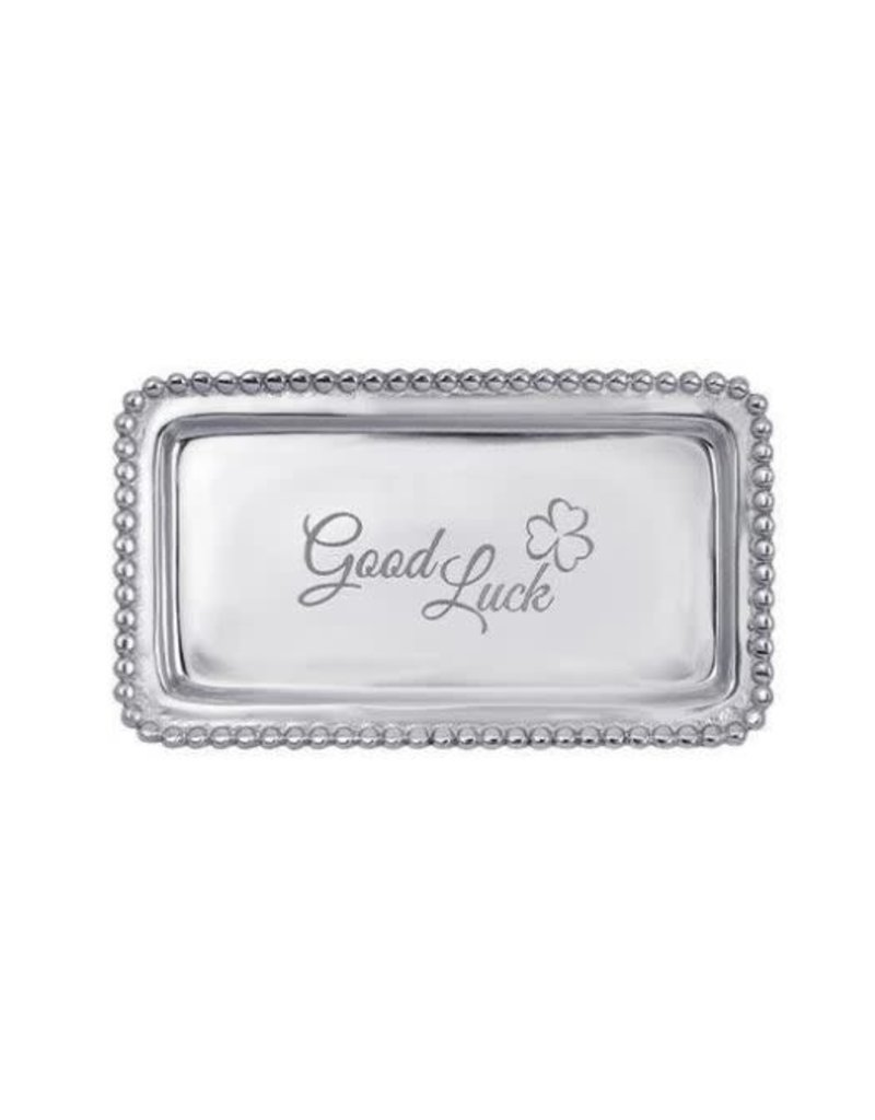 3905GL GOOD LUCK Beaded Statement Tray
