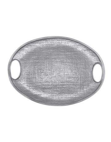 1754 Linen Oval Tray