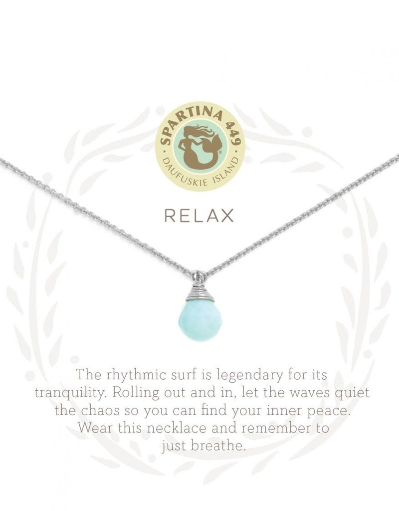 """SLV Necklace 18"""" Relax/Water Drop SIL"""