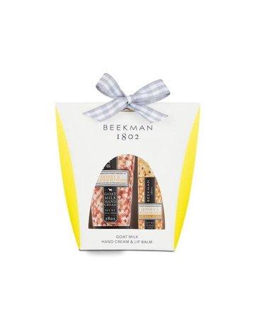 Beekman 1802 Honey & Orange Blossom Hand Cream 2oz & Lip Balm Set
