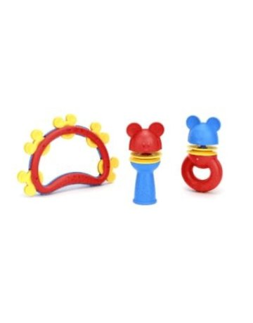 Green Toys Mickey Mouse Shake & Rattle Set