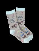 Womens Grey/Blue Adopt Dont Shop Socks