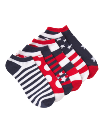 Womens Low Show Red Americano Socks