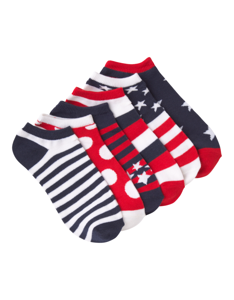 Womens Low Show Red Americano Socks