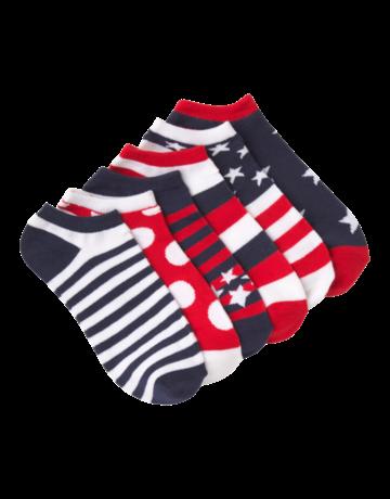 Womens Ankle Red Americano Socks