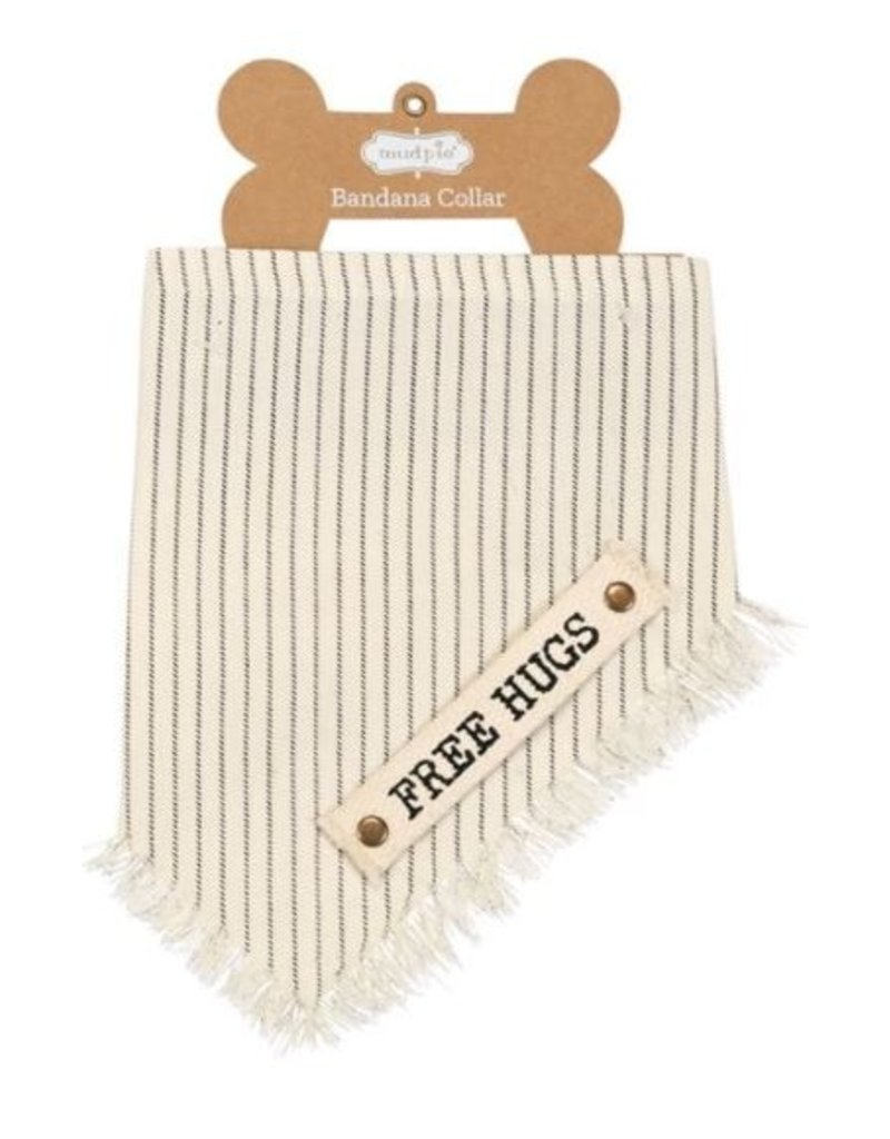 Mud Pie Free Hugs Dog Cotton Bandana