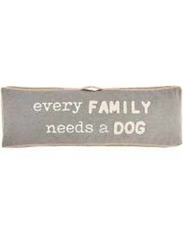 Mud Pie Every Family Long Dog Pillow