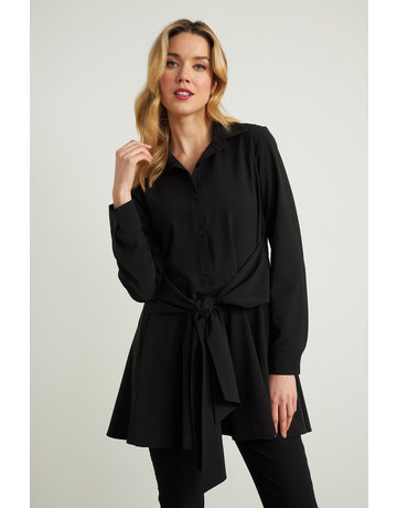 Joseph Ribkoff Black Long Sleeve With Tie Front Top-10