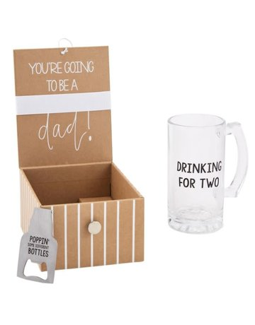 Mud Pie Dad Beer Announcement Box