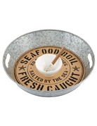 Mud Pie OYSTER DIP AND TRAY SET