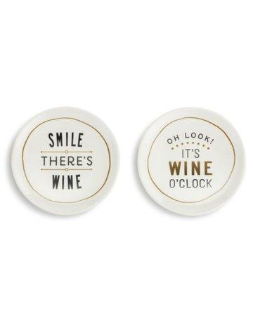 Wine O'Clock Wine AtzPlates - Set of 2A