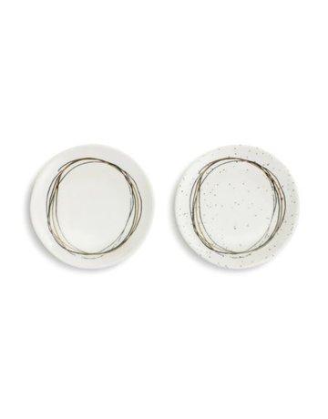Circle Wine Aptr Plates - Set of 2 A