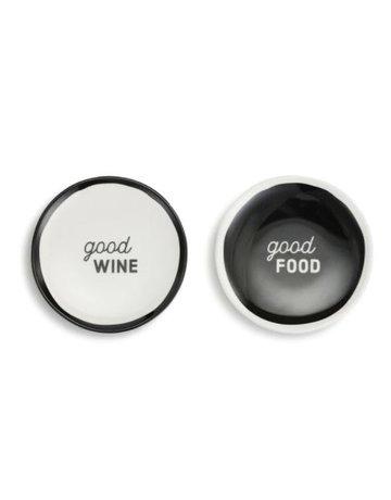 Good Food Wine Apt Pltes - Set of 2 A