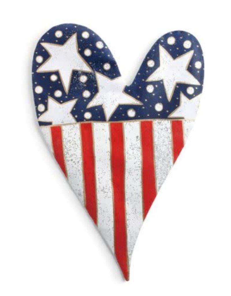 Stars and Stripes Heart Door Hanger