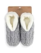 Gray Chenille Slippers- Medium
