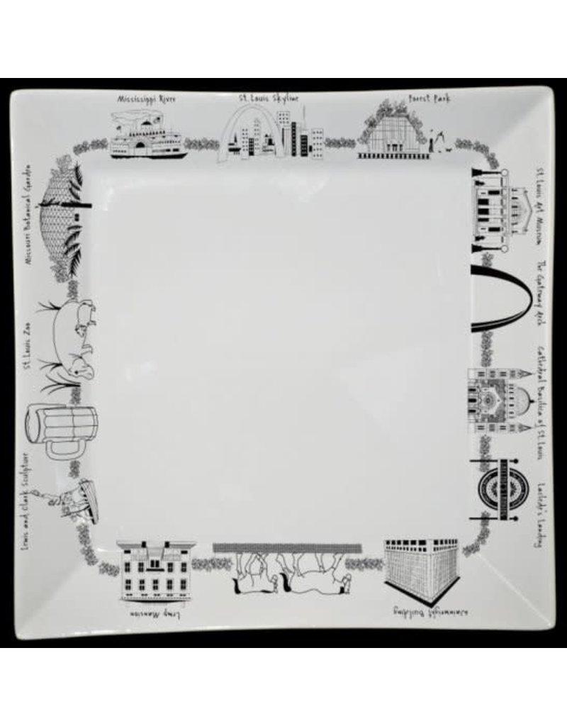 St. Louis Large Square Platter