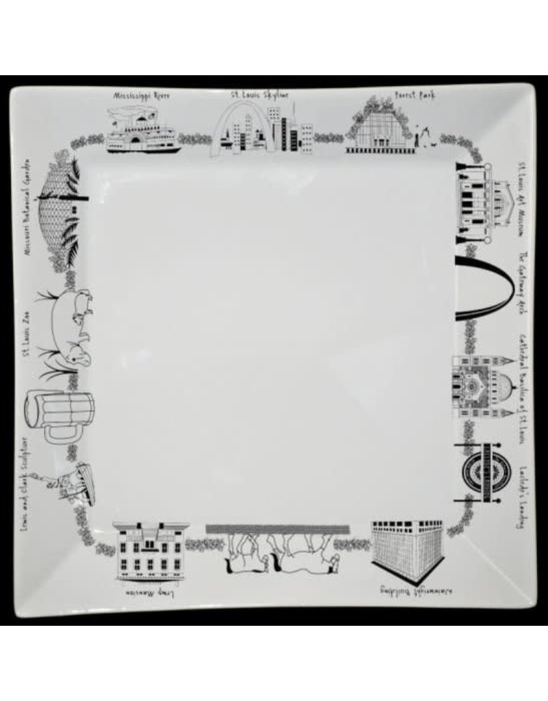 St. Louis Small Square Plate