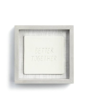 "Better Together Wall Art - 6""sq."