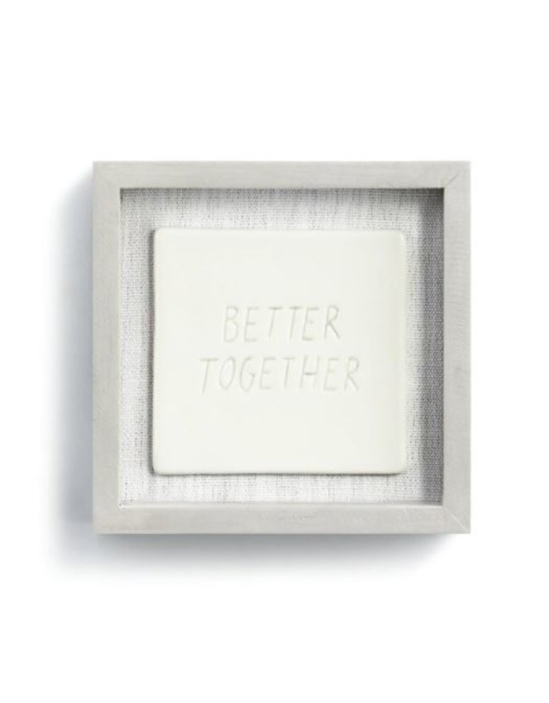 """Better Together Wall Art - 6""""sq."""