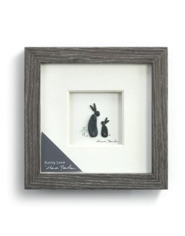 "Bunny Love Wall Art - 6""sq."