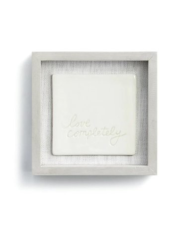 "Love Completely Wall Art - 6""sq."