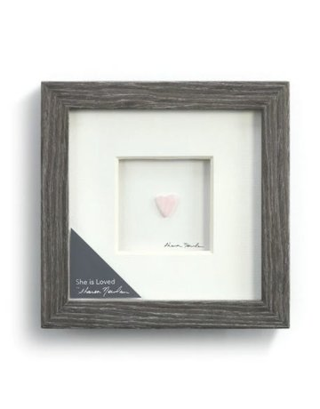 """She is Loved Wall Art - 6""""sq."""