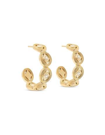 Capucine De Wulf Monique Hoop Earrings in Diamond CZ