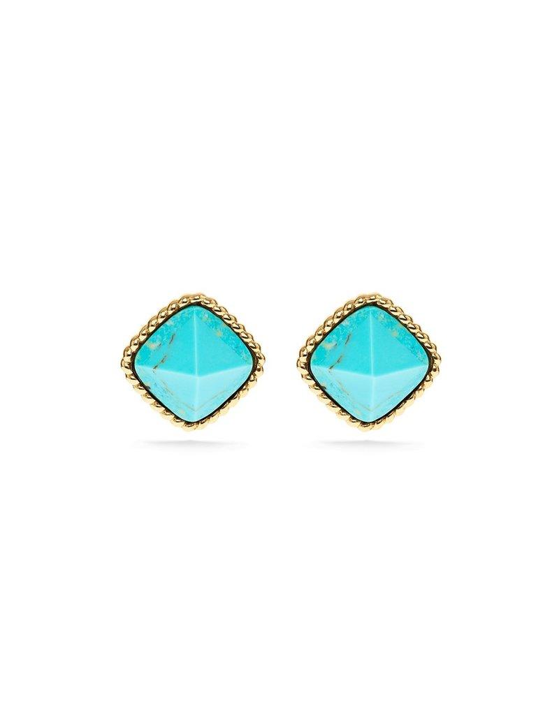 Capucine De Wulf Blandine Post Stud Earrings, Turquoise
