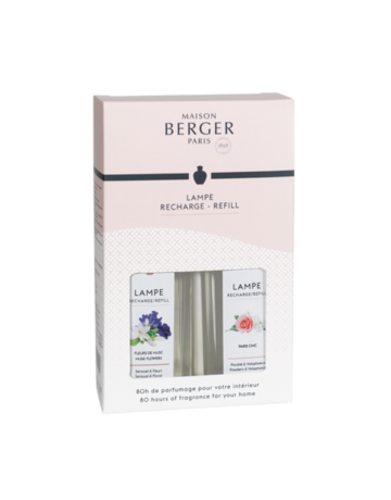 Maison Lampe Berger Liquid Refill Duo Kit (Musk Flower + Paris Chic)
