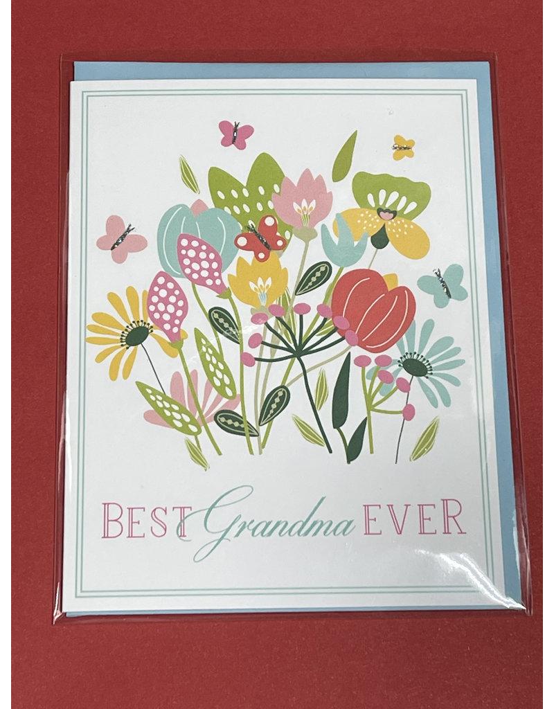 Greeting Card- Best Grandma Ever Spring Blossoms