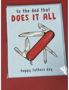 Greeting Card- To the dad that does it all
