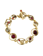 Patricia Locke Penny Arcade Bracelet In Silver, Ravishing Red