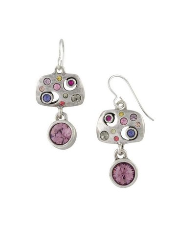 Patricia Locke Asteroid Earrings in Silver
