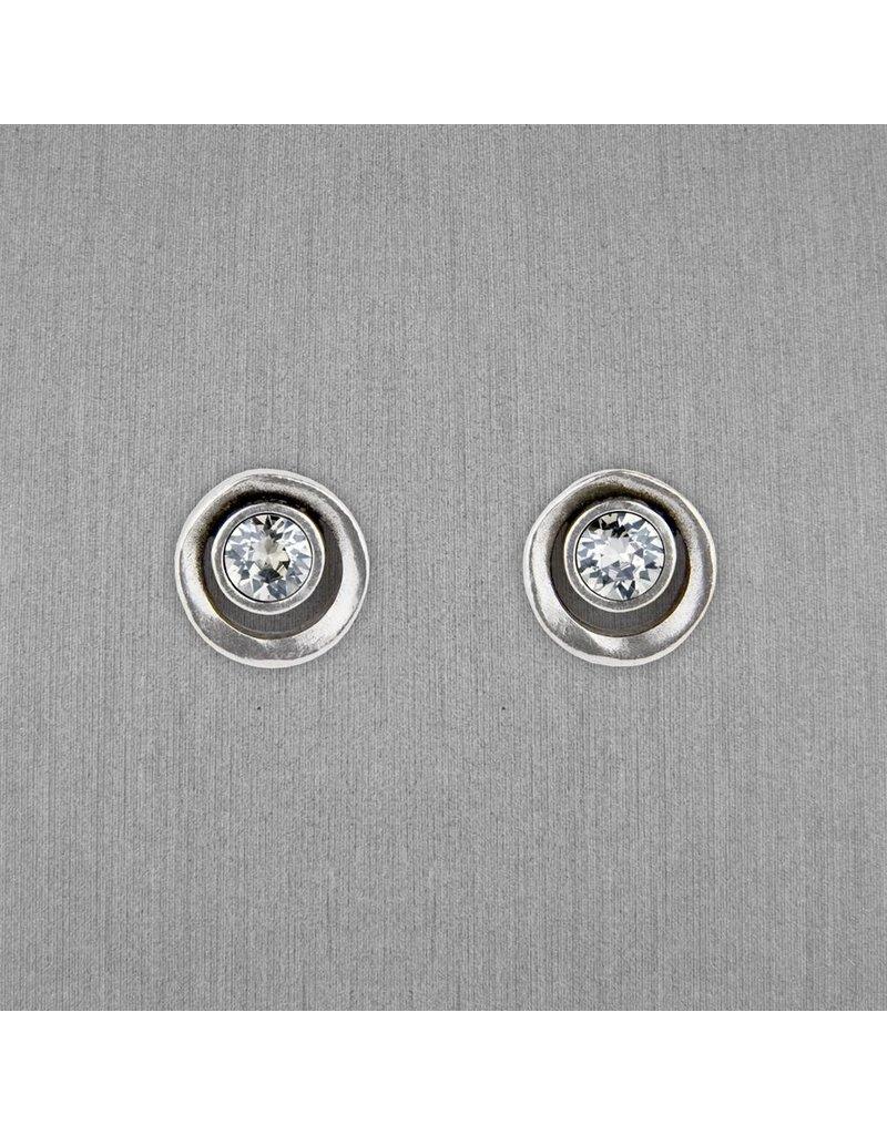 Patricia Locke Eye Spy Earrings in Silver