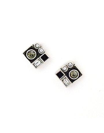 Patricia Locke Pixel Earrings in Silver