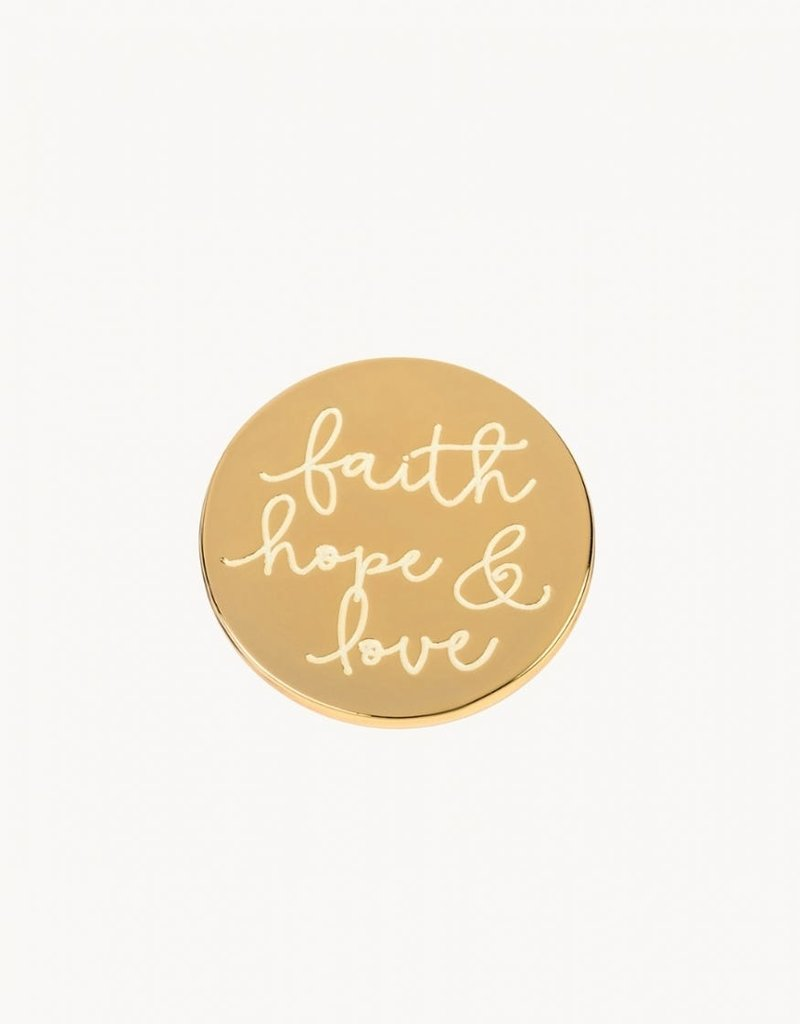 Locket Note Faith Hope Love