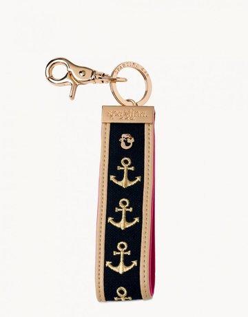 Navy Anchor Grab-n-Go Keychain
