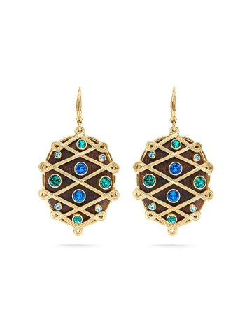 Capucine De Wulf Elizabetta Earrings Jeweled Earth Goddess