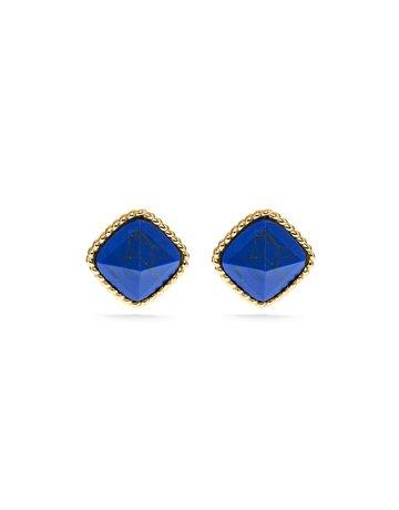 Capucine De Wulf Blandine Post Stud Earrings, Lapis