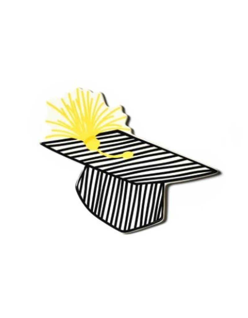 Striped Graduation Cap Big Attachment