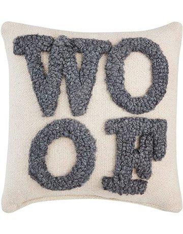 Mud Pie Woof Small Hook Pillow