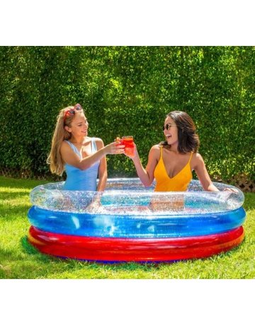 Stars & Stripes Sunning Pool- 3 Ring Inflatable Pool