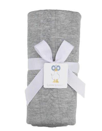 "GooseWaddle Gray Knit Blanket 30""x40"""
